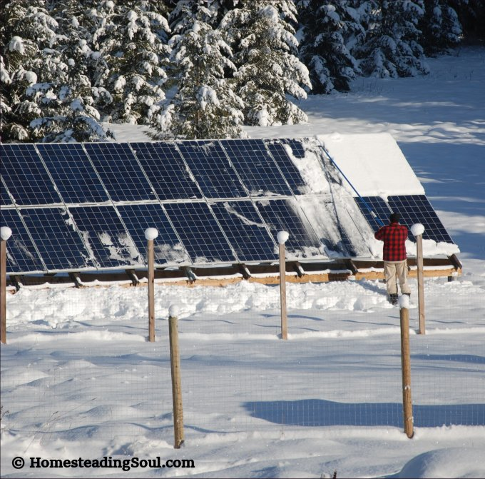Solar panels need cleaning in the winter