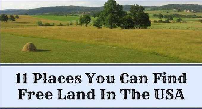 Free land in the US