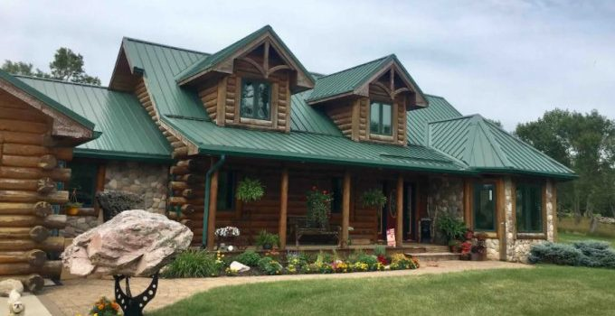 Log home farmhouse